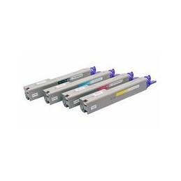 compatible Set 4x Toner voor Oki C3300 C3400 C3450 C3600 van Huismerk