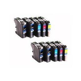 compatible Set 10x inkt cartridge voor Brother LC127XL LC125xL van Huismerk