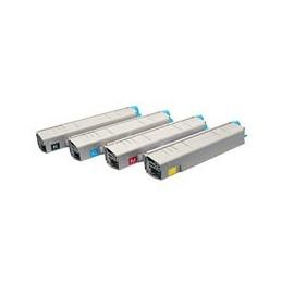 compatible Set 4x Toner voor Oki C8600 C8800 van Huismerk
