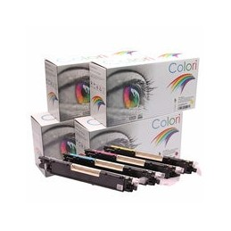 compatible Set 4x Toner voor HP 126A Color Laserjet Cp1025 van Colori Premium