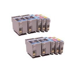 compatible Set 10x inkt cartridge voor Epson 27XL van Huismerk
