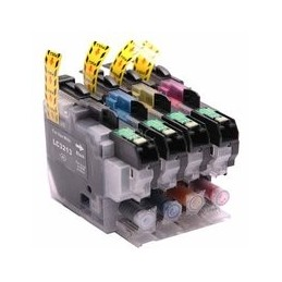compatible Set 4x inkt cartridge voor Brother LC3213 LC-3213 van Huismerk