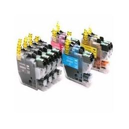 compatible Set 10x inkt cartridge voor Brother LC3213 LC-3213 van Huismerk