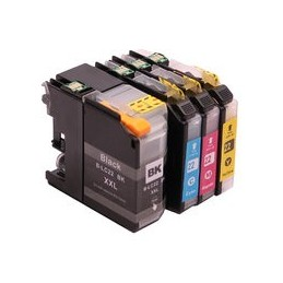 compatible Set 4x inkt cartridge voor Brother LC22U DCP-J785W MFC-J985DW van Huismerk