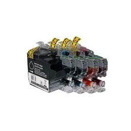 compatible Set 4x inkt cartridge voor Brother LC3219XL van Huismerk