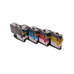 compatible Set 4x inkt cartridge voor Brother LC3237 van Huismerk