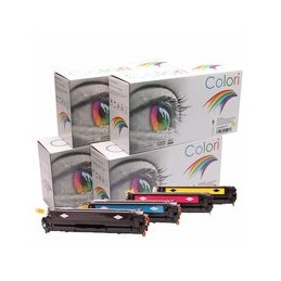 compatible Set 4x Toner voor HP 128A Color Laserjet Cp1525 van Colori Premium