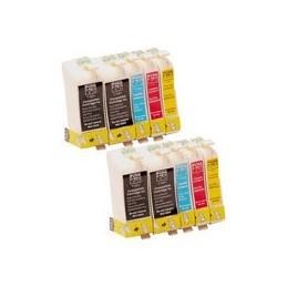 compatible Set 10x inkt cartridge voor Epson T1001 - T1004 van Huismerk