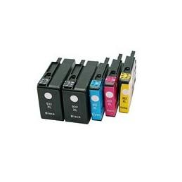 compatible Set 5x inkt cartridge voor HP 932XL-933XL van Huismerk
