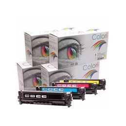 compatible Set 4x Toner voor HP 304A Color Laserjet Cp2025 van Colori Premium