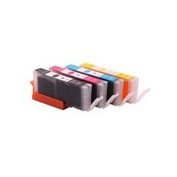 compatible Set 4x inkt cartridge voor Canon CLI581XXL BKCMY van Huismerk