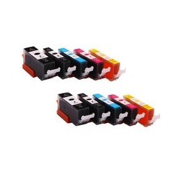 compatible Set 10x inkt cartridge voor Canon PGI570XL CLI571XL van Huismerk