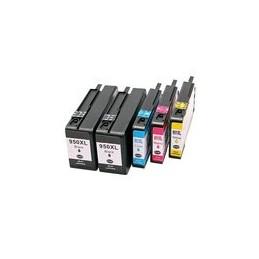 compatible Set 5x inkt cartridge voor HP 950XL-951XL van Huismerk
