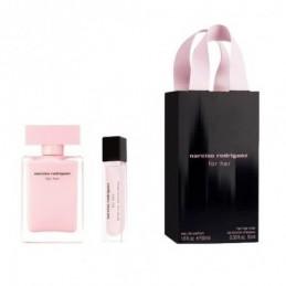 Narciso Rodriguez - For her 50ml eau de parfum + 10ml Hairmist Eau de parfum-Giftset