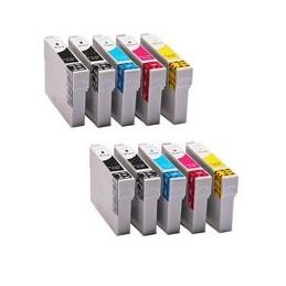 compatible Set 10x inkt cartridge voor Epson T1281-T1284 van Huismerk