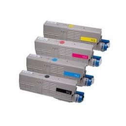 compatible Set 4x Toner XXL voor Oki C532 C542 MC563 MC573 van Huismerk