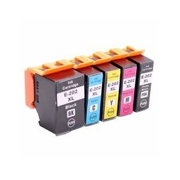 compatible Set 5x inkt cartridge voor Epson 202XL XP6000 XP6005 van Huismerk