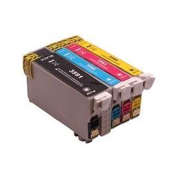 compatible Set 4x inkt cartridge voor Epson 35XL WF4720 van Huismerk