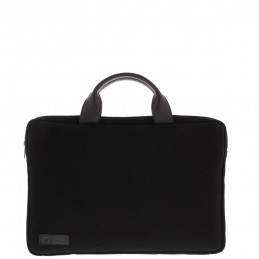"BOND 15.6"" Toploader bag Black canvas leather"