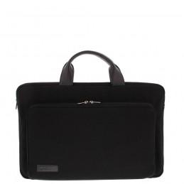 """BOND 17.3"""" sleeve tas met voorvak canvas zwart"""