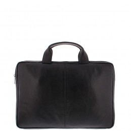 Plevier 15-15.6 inch sleeve tas nappa leer zwart