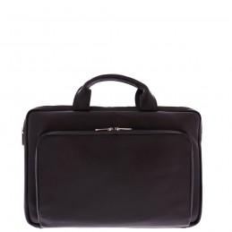 Plevier 15-15.6 inch sleeve tas nappa leer met voorvak, zwart