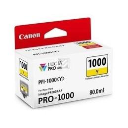 Origineel Canon PFI-1000y inkt geel standaard capaciteit 80ml 1 stuk iPF1000
