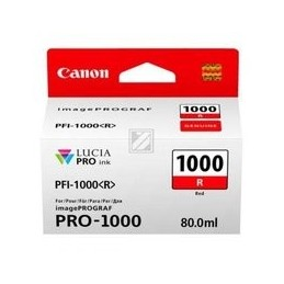 Origineel Canon PFI-1000r inkt rood standaard capaciteit 80ml 1 stuk iPF1000