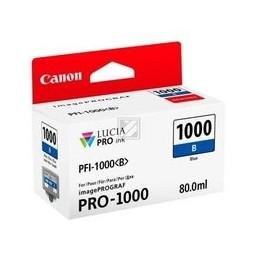 Canon PFI-1000b inkt blauw standaart capaciteit 80ml 1 stuk iPF1000