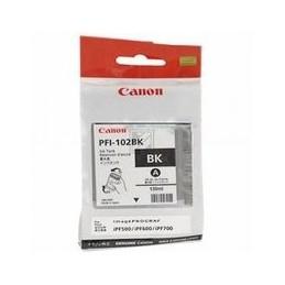 Origineel Canon PFI-102BK kleur cartridge zwart standaard capaciteit 130ml 1 stuk