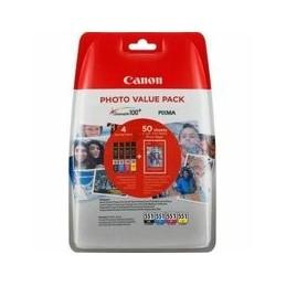 Origineel Canon CLI-551 value pack blister 4x6 foto papier PP-201 50 blad + cyan magenta geel & zwa