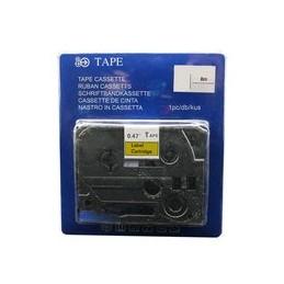 compatible Tapecassette voor Brother Tze641 zwart geel van Huismerk