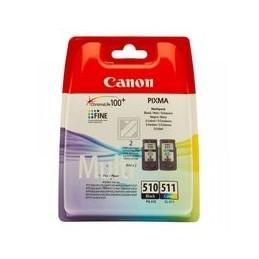 Origineel Canon Pg-510 - Cl-511 Inkt Zwart En Kleur Standaard Capaciteit Zwart: 240 Paginas
