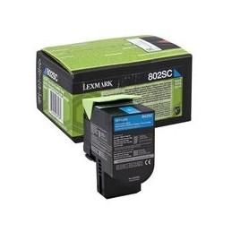 Lexmark 802sc Toner Cyan Standaardkapazität 2.000 Paginas 1 Stuk Terugkeerprogramma
