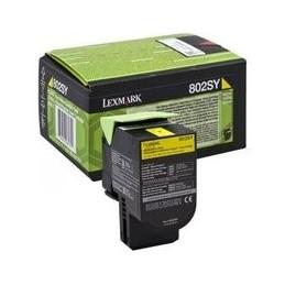 Origineel Lexmark 802sy Toner Geel Standaard Capaciteit 2.000 Paginas 1 Stuk Terugkeerprogramma