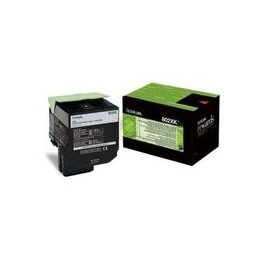 Origineel Lexmark 802xk Toner Cartridge Zwart Extra High Capacity 8.000 Paginas 1 Stuk Terugkeerpro