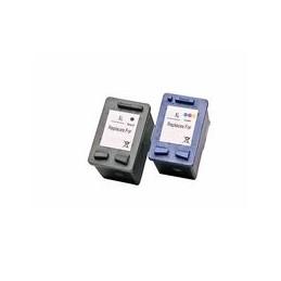 Set 2x Kompatibel Inkt Cartridge Voor HP 27-28 Van Huismerk
