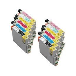 Set 12x Kompatibel Inkt Cartridge Voor Epson T0801-t0806 Van Huismerk