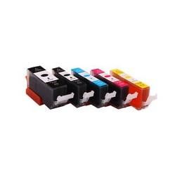 Set 5x Kompatibel Inkt Cartridge Voor Canon 570xl Pgbk 571xl Bkcmy Van Huismerk