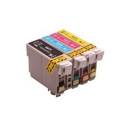 Set 4x Kompatibel Inkt Cartridge Voor Epson 34xl Wf3720 Van Huismerk