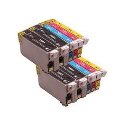 Set 10x Kompatibel Inkt Cartridge Voor Epson 35xl Wf4720 Van Huismerk