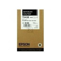 Origineel Epson T5438 Inkt Mat Zwart Standaard Capaciteit 110ml 1 Stuk