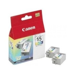 Canon Bci-15 Inkt Tri-color Standaardkapazität 2 X 7.5ml 2 X 100 Paginas 2er-pack