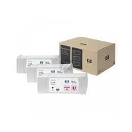 Origineel HP 81 Kleur Cartridge Light Magenta Standaard Capaciteit 3 X 680ml 1.000 Paginas 3 Stuk