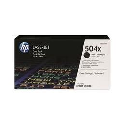Origineel HP 504x Colour Laserjet Toner Zwart Hoge Hoedanigheid 2 X 10.500 Paginas 2er-pack