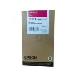 Origineel Epson T6113 Inkt Magenta Standaard Capaciteit 110ml 1 Stuk