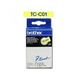 Origineel Brother P-touch Tc-c01 Zwart Geel 12mm