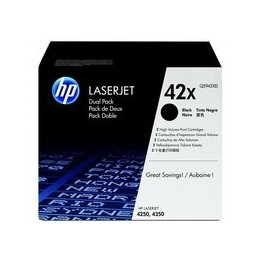 Origineel HP 42xd Laserjet Toner Zwart Hoge Hoedanigheid 2 X 20.000 Paginas 2er-pack
