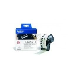 Origineel Brother P-touch Dk-22211 Wit Continue Length Film 29mm X 15.24m